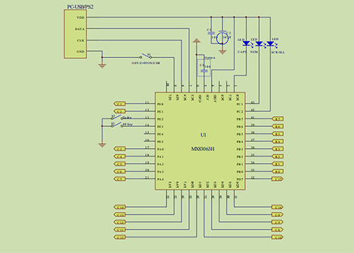 MX83063H单片键盘编码器